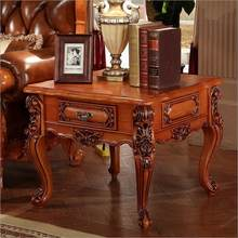 Antique Style Italian Small Table 100 Solid Wood Italy Luxury Set O1134