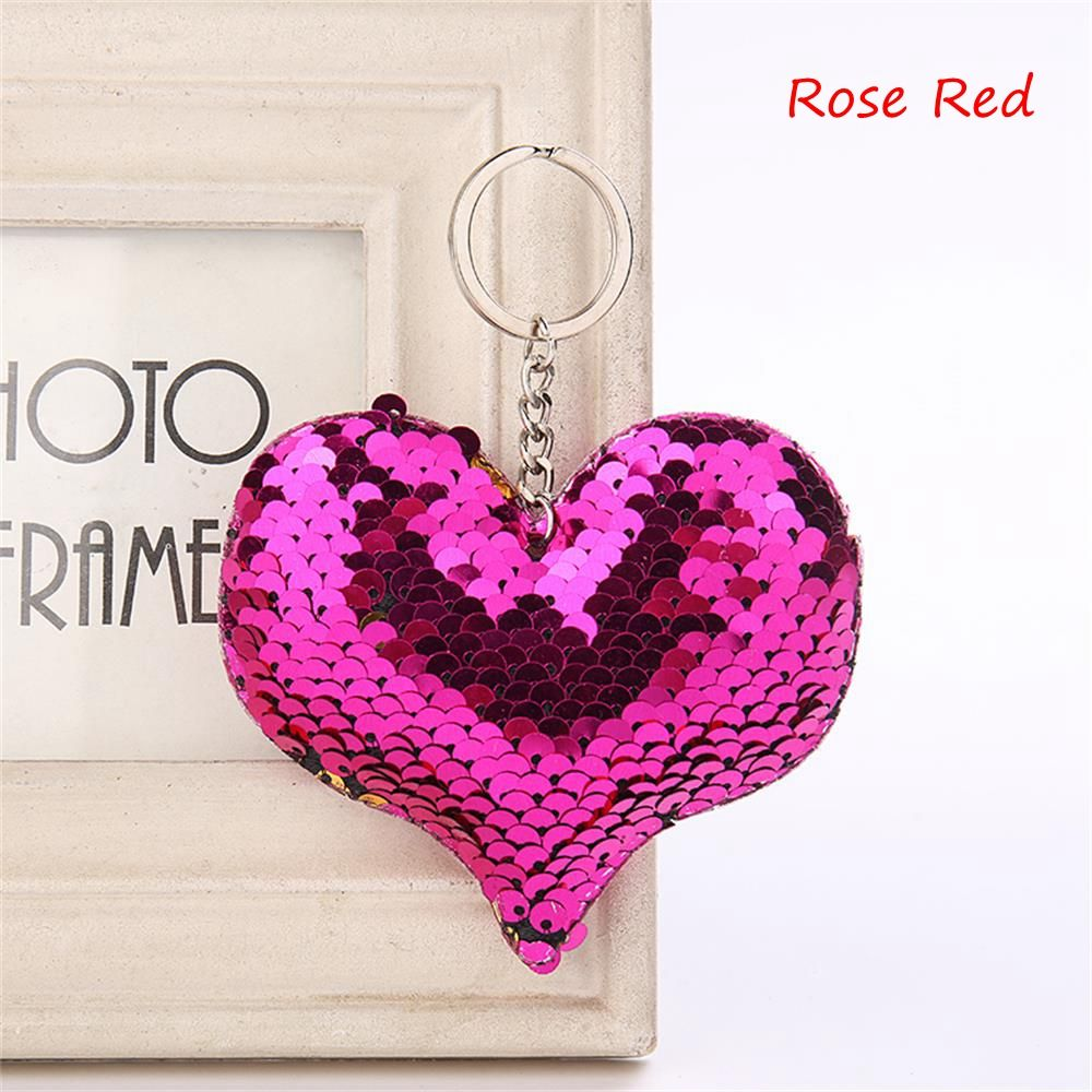 Bag Parts & Accessories Temperate 3 Style Women Sequin Heart Shape Star Elephant Handbag Purse Car Accessories Keyring Jewelry Unisex Funny Handbag Pendant Gift