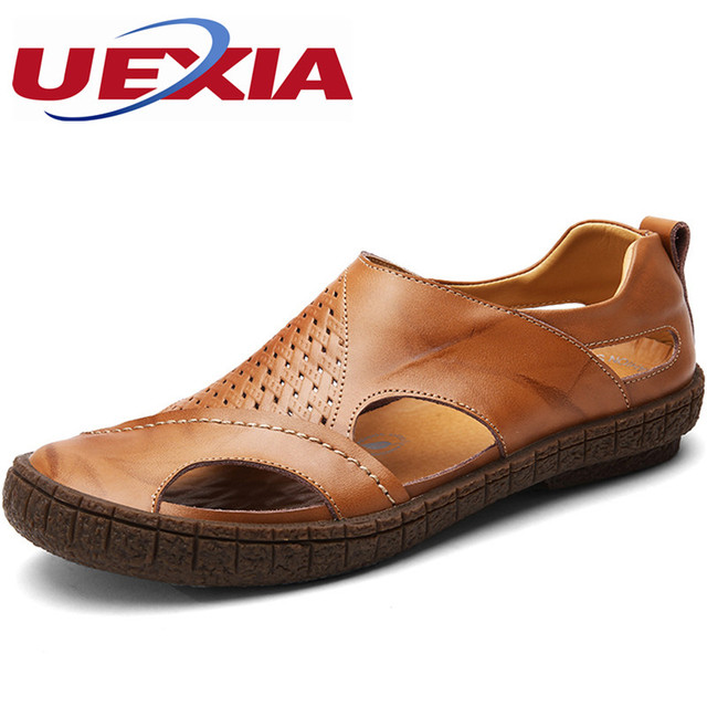 Men Hollow Breathable Casual Shoes Handmade Sandals find great cheap online the cheapest sale online JjRvKg