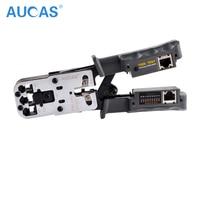 AUCAS High Quality RJ11 RJ45 Multifuction Crimper Network Crimping Tool Piler Tools Portable LAN TOOL Crimper Plug Clamp PC