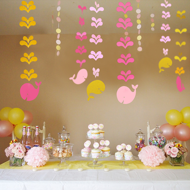 Cute Fish Pink Blue Garland Childrens Day Room Party Home Decoration Banner Girls Boys Birthday Baby Shower