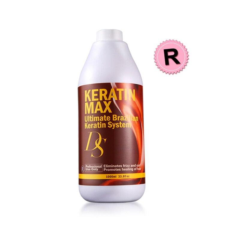Cheiro de Formol a 12% Alta Superior Ds Max 1000ml Tratamento de Queratina de Chocolate Profissional alisamento de cabelo Fazer Seu Cabelo brilhante