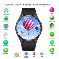 3G Smartwatch WIFI GPS Bluetooth Smart watch 1.39'' Screen Pedometer Smart Watch Men 1.3GHz 1GB RAM 2.0MP Camera for Android IOS