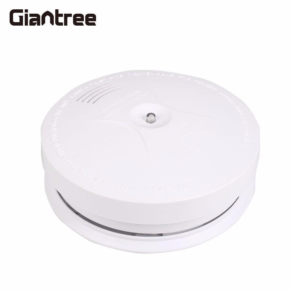 Giantree Home Security System Wireless Fire Smoke Detector Safety Shop Store Security System Cordless Fire Alarm Sensors wireless smoke fire detector smoke alarm for touch keypad panel wifi gsm home security system without battery
