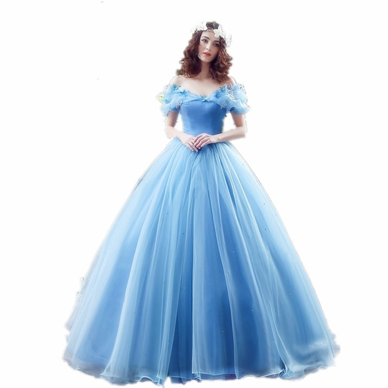 H S BRIDAL Off the Shoulder cinderella quinceanera dresses sweet 16 ball gowns Prom Dress robe