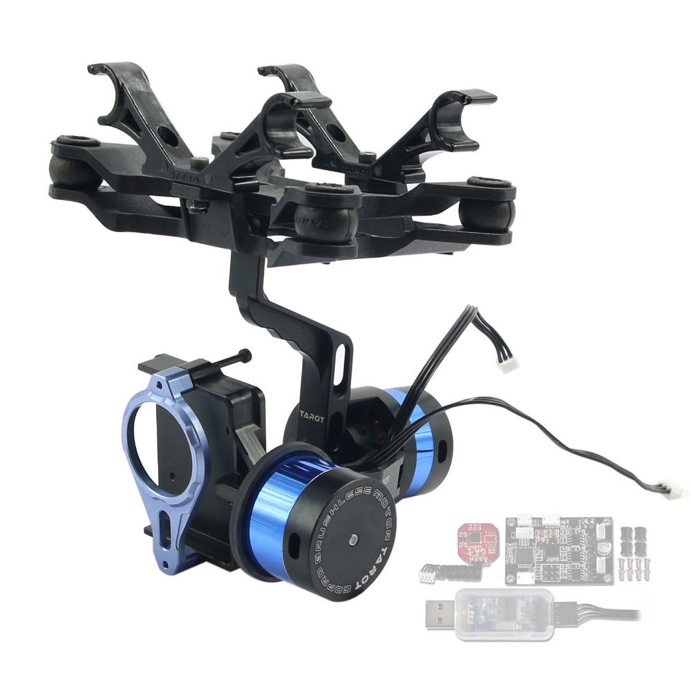 Tarot Gopro 2 Axis Brushless Gimbal with Gyro TL68A00 for FPV Gopro Hero Camera 2 axis brushless gimbal camera mount gyro zyx22 for gopro 3 aerial photography multicopter fpv tarot