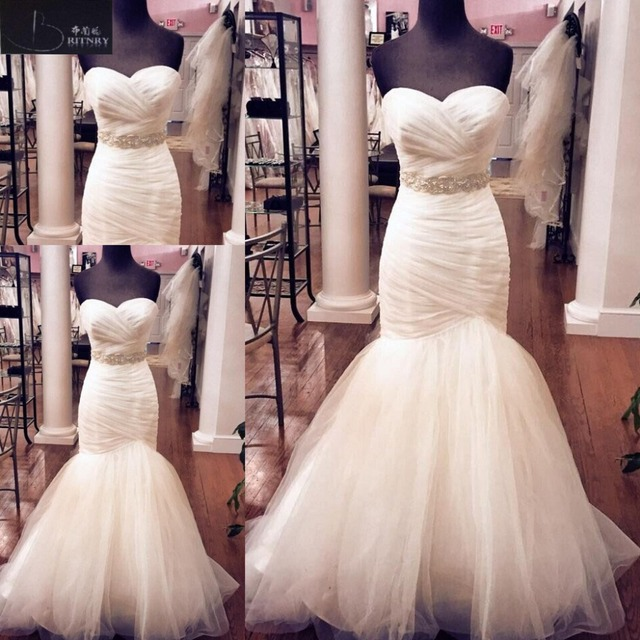 strapless trumpet mermaid wedding dresses 2018