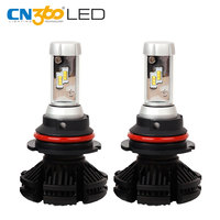 CN360 2PCS X3 9004 HB1 LED ZES Chip All In One Car Lamp Bulbs 3000K 6000 8000K Auto Headlamp 25W Headlight Longer Lifespan