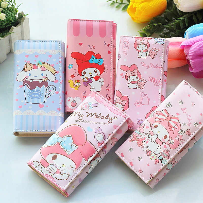 Hot Sale Lady Leather Long Wallet Card Holder Cartoon Purse Handbag Gift Cute Rabbit Pattern Girl Wallet Bag