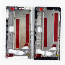 White/Black/Pink Front Frame Bezel LCD Chassis Faceplate Replacement for Huawei Ascend P6 Mobile Phone Case Cover