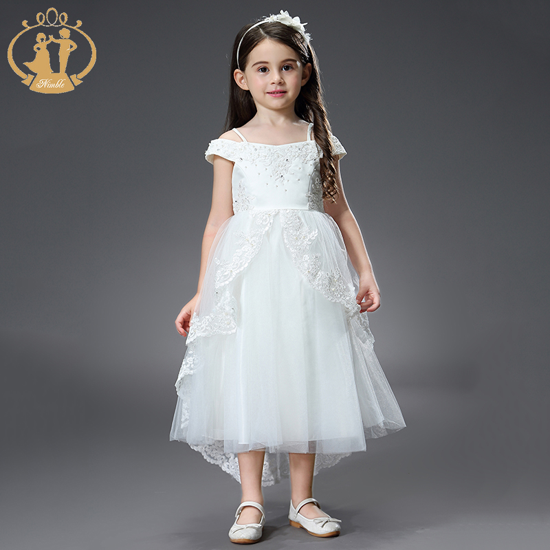 Nimble Dress for Girls Roupas Infantis Menina Kids Dresses for Girls Vestidos Baby Girl Unicorn Party Wedding Princess Dress eleganzza перчатки eleganzza hp01222 luggage коричневый