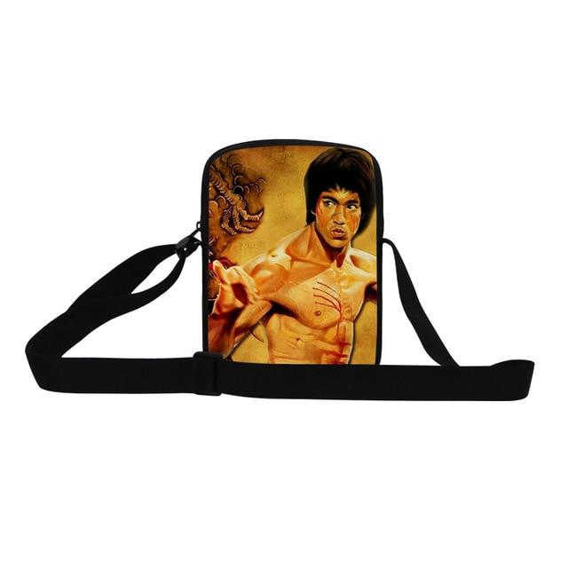 Cool Bruce Lee Kung Fu Mens Handbag Fashion Cross Body Bag Boys Shoulder  Bag Children Messenger Bag Business bBg Free Shipping 0119878a87350