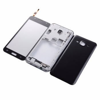 For Samsung Galaxy J5 2015 J500 J500F J500H Housing Middle Frame Battery Cover LCD Touch Screen Glass image