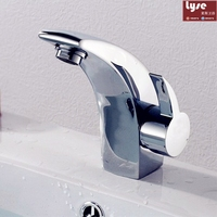 Classic Style Basin Faucet Cold And Hot Water Mixer Single Handle Tap Mini Stylish Elegant Bathroom