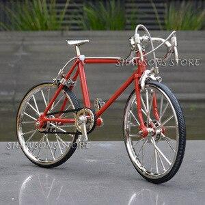 Image 3 - Diecast דגם צעצועי 1:10 מרוצי אופני אופניים העתק מיניאטורי אוספים