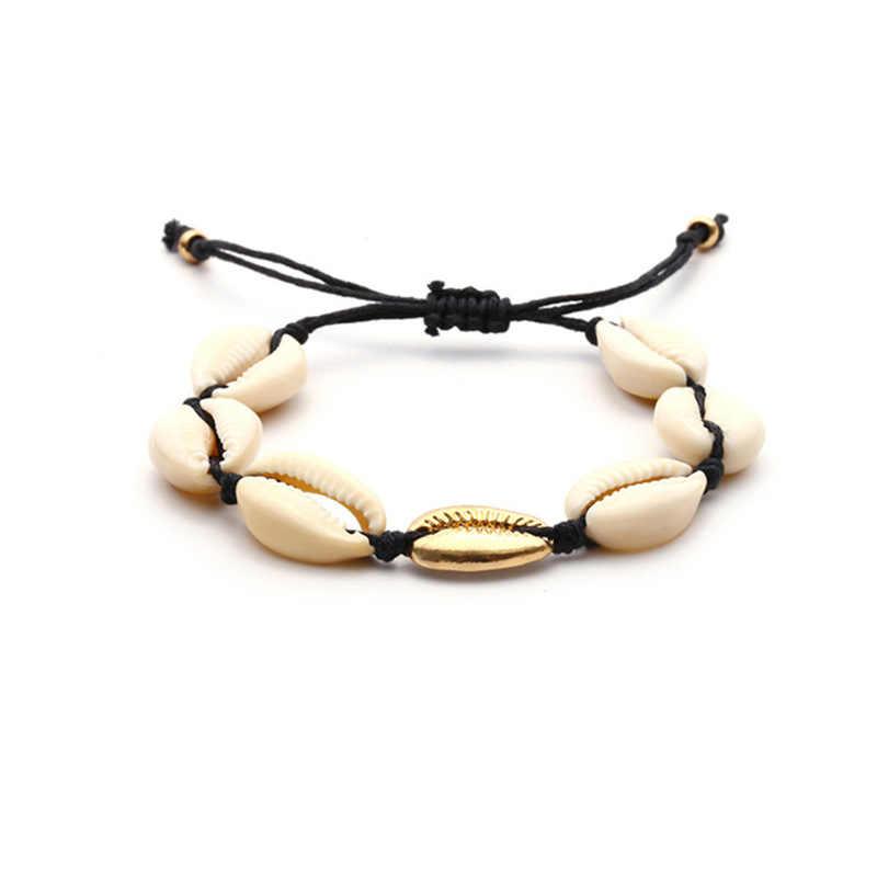 Boho Гавайский Sea Shell ювелирные изделия богемный пляж кисточкой Цепочки и ожерелья оболочки Золотая цепь для Для женщин цепочка на шею