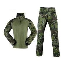 MTP 1/4, на молнии, с длинным рукавом, Боевая G3, костюм лягушки, с воротником, Мультикам, Тропик, тактическая рубашка, MTP, армейская боевая рубашка и штаны