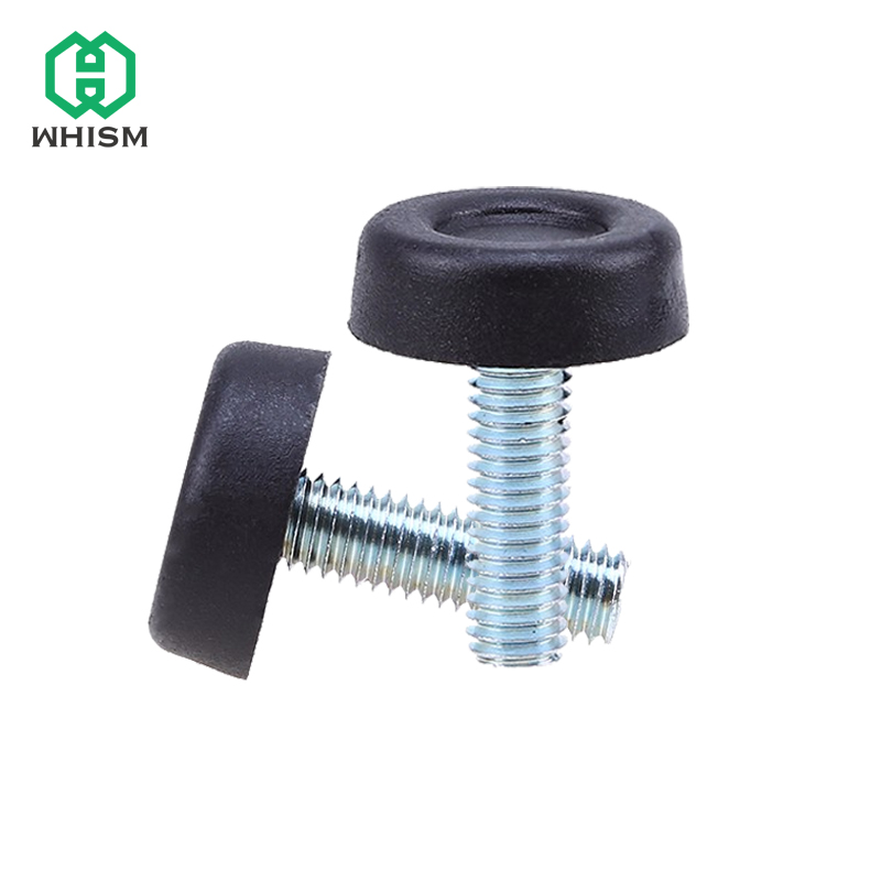 WHISM 4Pcs/Set Furniture Table Chair Sofa Cabinet Adjustable Leveling Leg Feet Glide Slide Leveler Base Screw-in M8 Bolt On Pad