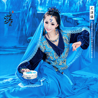 2014 New Design Sexy Photography Costume Exotic Minority Style Women's Costume Blue Clothing Set Song of the Great Desert Damo
