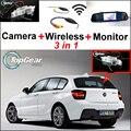 Para BMW 1 F20 F21 M1 3in1 WiFi Cámara Especial + Receptor inalámbrico + Vista Trasera de Copia de Seguridad Aparcamiento Monitor Del Espejo DIY Fácil sistema