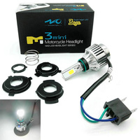 H4 BA20D 34W LED Hi Lo Beam Motorcycle Headlight Front Light Lamp Bulb 6500K