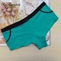 Rebantwa underwear solid para mujer cortocircuitos de los boxeadores de algodón bragas boyshorts bragas ladies seamless ropa interior ml xl 6 colores