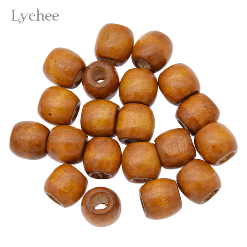 Lychee 20pcs/lot Multi Color Wood Hair Braid Dread Dreadlock Beads Clips Cuff Jewelry for Men Women