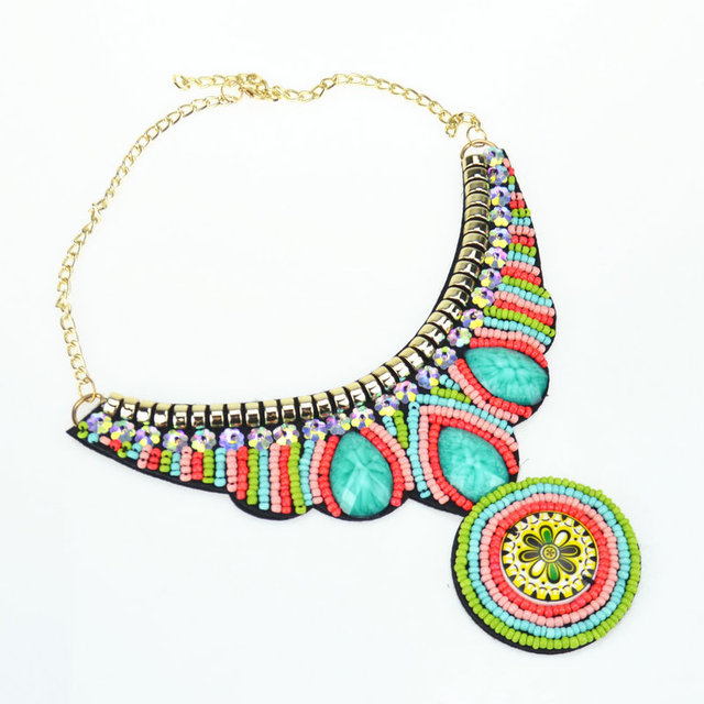 Ethnic Wild Tribe Pendant Gold Plated Attract Happiness