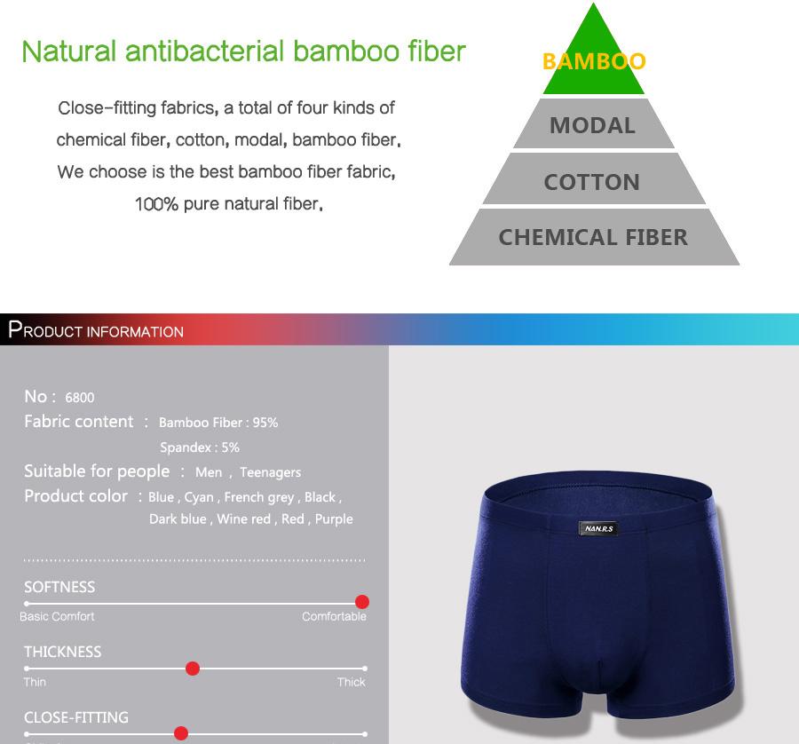 Bamboo Fibre Mens Underwear Boxer Shorts 22