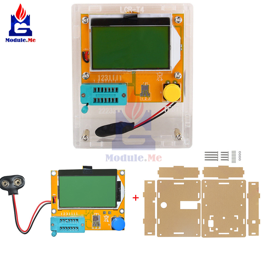 Mega328 LCR-T4 M328 multímetro Transistor Tester ESR Meter diodo triodo capacitancia ESR Meter MOS PNP NPN LCR con caja caja