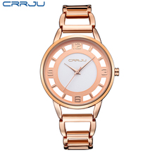 Brand Luxury Rose Gold watch Full stainless steel woman Fashion OL Lady Commercial Watches Fashion Dress Watch Relogio Feminino