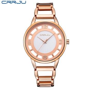 Zegarki na sprzedaż wyczyść marka różowe złoto zegarek pełne nierdzewne stal kobieta moda Lady komercyjne zegarki moda sukienka zegarek