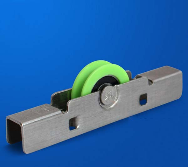 Oramic window concave double wheel pulley 304 stainless steel frameless balcony sheave pulley sliding glass window roller KF402