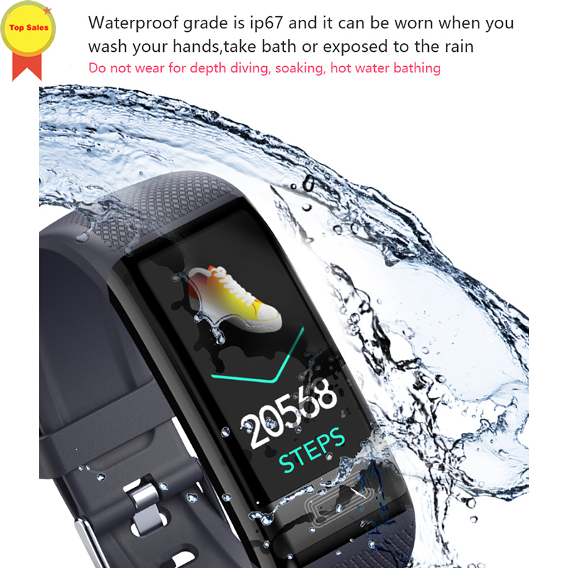 ECG PPG Smart Armband Band Bloeddruk Hartslagmeter Fitness Tracker Polsband voor IOS Iphone android xiaomi mi band 4 - 5