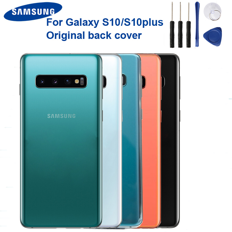 Original Replacement Battery Back Cover Door Glass For Samsung S10 X SM-G9730 S10 Plus SM-G9750 Back Cover Case Glass Backshell