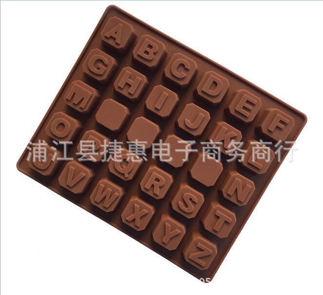 26 English Letter Silicone Chocolate Mold, DIY Handmade