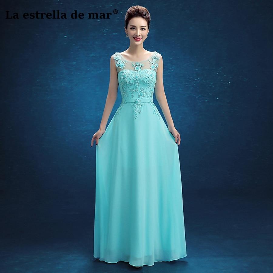 Vestidos de festa vestido longo para casamento new lace a Line turquoise turquoise   bridesmaid     dress   cheap gaun pesta dewasa