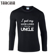TARCHIA Fashion I GET MY GOOD LOOKS T Shirt Men Long Sleeve Cotton T-Shirt Men O-Neck Casual Spring Men'S Clothing T-Shirts