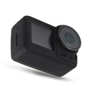 Image 5 - 2 で 1 osmoアクションカメラシリコンケース + レンズキャップ保護カバー防塵アンチスクラッチ用dji osmo acitonカメラ