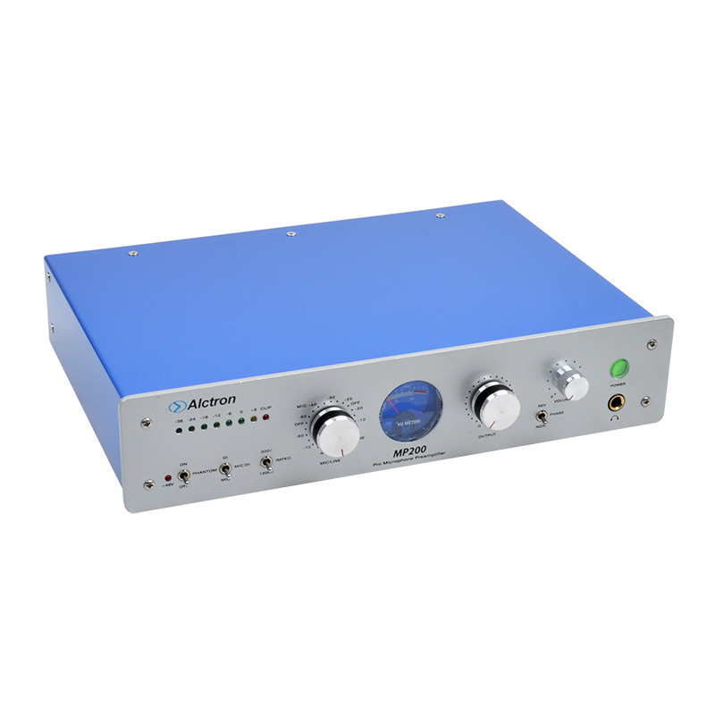 Alctron MP200 Professional high-end electronic tube mic preamplifier preamp microphone amplifier similar to NEVE 1073 3206 amplifier aluminum rounded chassis preamplifier dac amp case decoder tube amp enclosure box 320 76 250mm