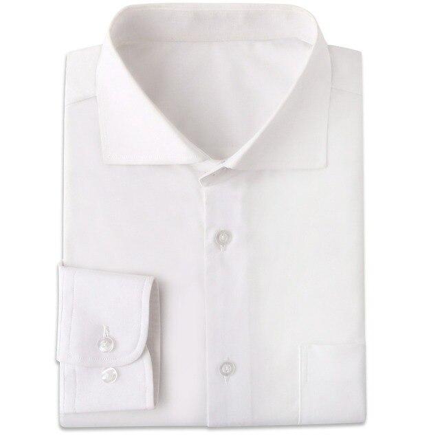 تي شيرت رجالي أبيض مقاوم للتجاعيد مصنوع حسب الطلب سليم تيشيرت ضيق بأكمام طويلة للرجال