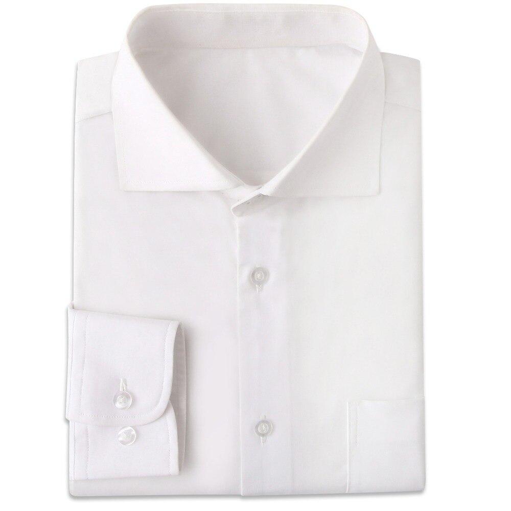 Camisas Las De Hechas A Vestir Arrugas Ajustadas Para Manga Blancas Resistentes Medida Larga 6gfby7