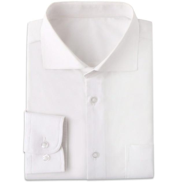 Odporne na zmarszczki białe męskie ubranie koszule Custom Made Slim Fit z długim rękawem mężczyźni sukienka koszula Blanche koszulka Homme Manche Longue