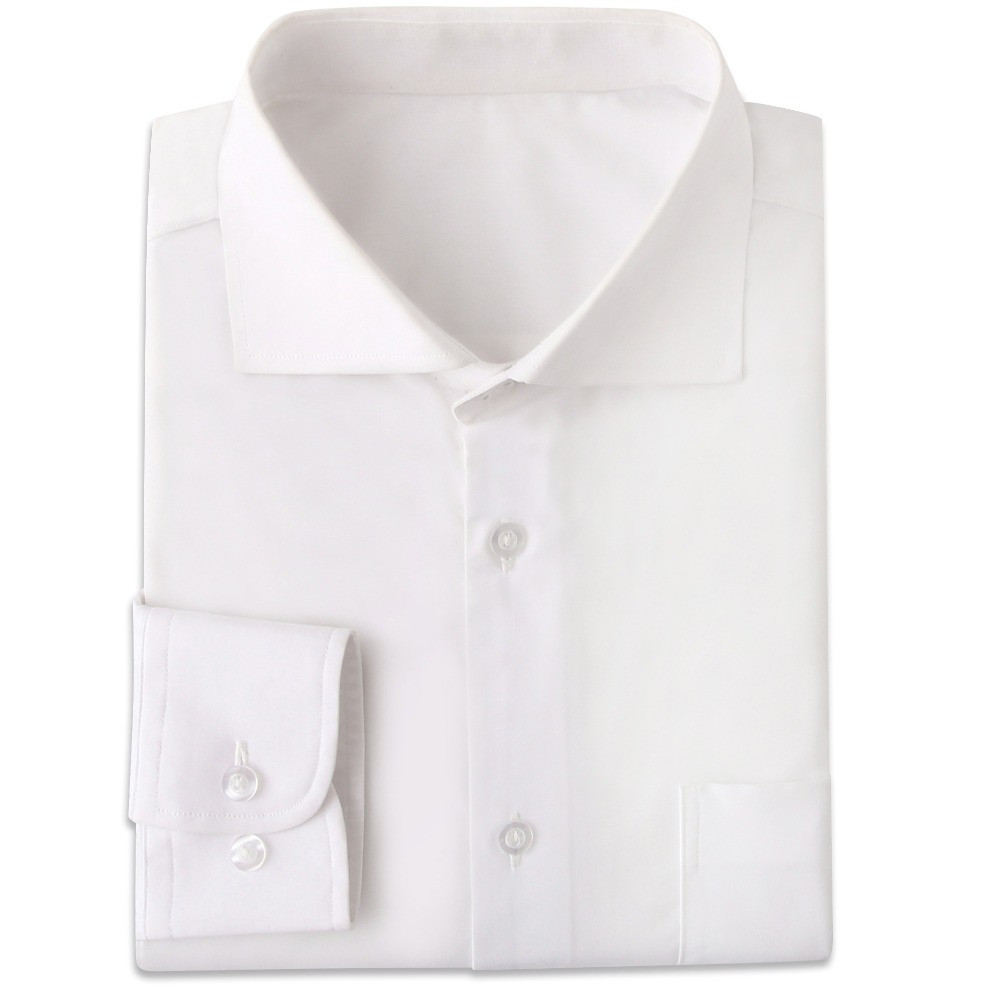 Wrinkle Resistant White Mens Dress Shirts Custom Made Slim Fit Long Sleeve Men Dress Shirt Blanche Chemise Homme Manche Longue