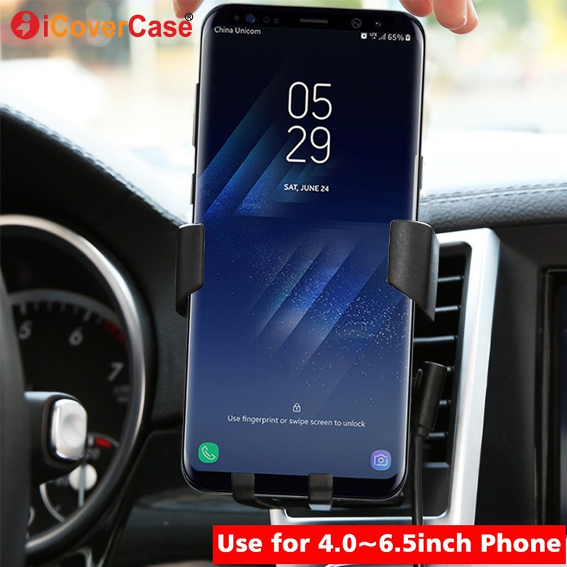 Car Mount Wireless Charger For Samsung Galaxy A8 A8+ A6 A6+ Plus 2018 A9 Star A6s A8s Qi Receiver Charging Pad Phone Holder