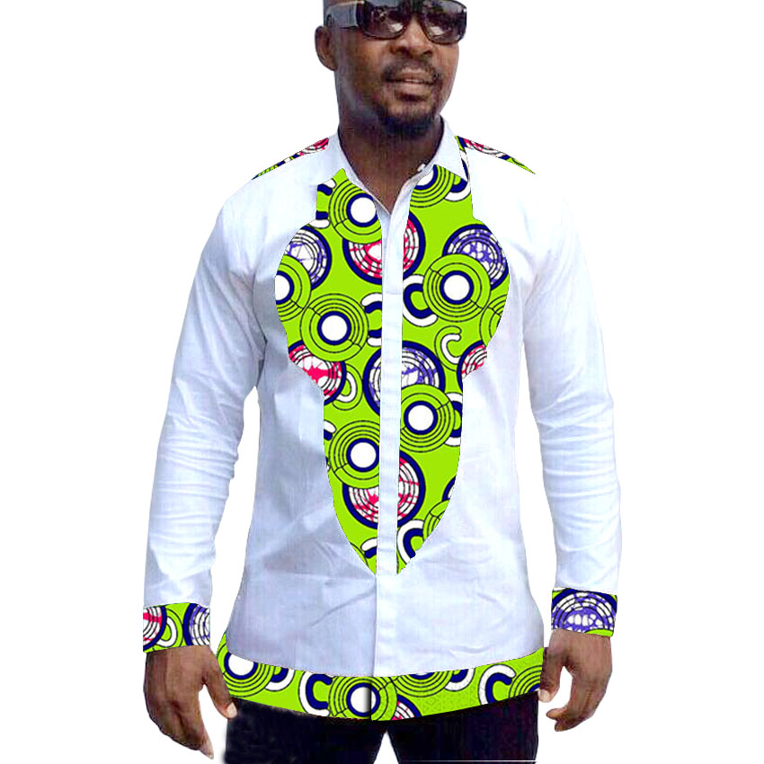 Afrikaanse herenoverhemden Afrikaanse dashiki kleding patchwork shirt bruiloft outfits voor man afrika kleding op maat