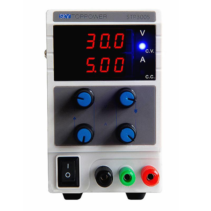 0-30V 0-5A Adjustable DC Power Stabilizer with 3 Digit Display AU Plug Home Electrical Equipment Supply four digit display rps3003c 2 adjustable dc power supply 30v 3a linear power supply repair