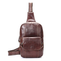 Men S Leather Hiking Travel Belt Hip Bum Fanny Pack Waist Chest Sling Bag Pouch Free