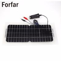 18V 5.5W Portable Flexible Smart Solar Power Panel Car RV Boat Battery Bank Charger Universal with Alligator Clip USB Cable