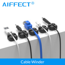 AIFFECT 6Pcs Cable Winder Wire Organizer Eearphone Holder Mouse Cord Protector Management For Samsung iPhone Ethernet